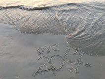 """ del año 2017†del """"farewell y concepto """"happy del  del Año Nuevo 2018†Foto de archivo"""