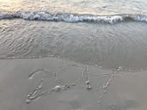 """ manuscrito del año """"2017†en la playa Fotos de archivo"""