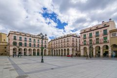 Luís López Allue Square in Huesca, Aragon, Spain Stock Photos