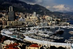 View of the port of Monte Carlo Monaco Royalty Free Stock Photography