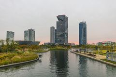 Central Park Songdo in incheon South Korea. INCHEON, SOUTH KOREA -OCTOBER 5:  Central Park in Songdo international business district Photo taken on Royalty Free Stock Photography