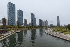 Central Park Songdo in incheon South Korea. INCHEON, SOUTH KOREA -OCTOBER 5:  Central Park in Songdo international business district Photo taken on Stock Image