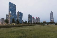 Central Park Songdo in incheon South Korea. INCHEON, SOUTH KOREA -OCTOBER 5:  Central Park in Songdo international business district Photo taken on royalty free stock photo