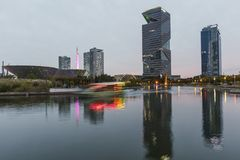 Central Park in Songdo international business district. INCHEON, SOUTH KOREA -OCTOBER 5:  Central Park in Songdo international business district Photo stock photo