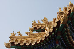Roof of Chinese temple.  view of Roof of Chinese temple Stock Images