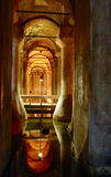 The underground reservoir. Of Basilica Cistern in Istanbul Stock Photography