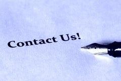 ¡Éntrenos en contacto con! foto de archivo libre de regalías