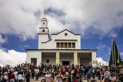 ¡ Colombie d'Iglesia Basilica del Senor De Monserrate Bogotà Photos stock
