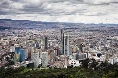 ¡ Del centro di Bogotà visto dalla traccia di Monserrate immagini stock libere da diritti