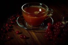 ¡ Di Ð su di tè con un gamberetto Fotografie Stock Libere da Diritti