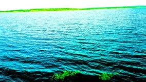 ¡ di Arroyo Garupà Vista del lago nero dalla città Fotografia Stock Libera da Diritti