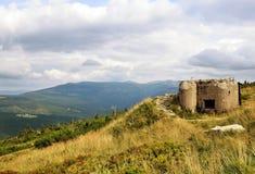 ¡ E KrkonoÅ - ландшафт гор с чехословакскими защитительными городищами Стоковые Фото