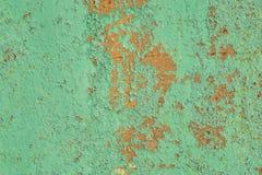 ¡ Gerekte verf Ð op roestig metaal stock foto's