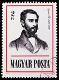 ¡ L Gyulai de PÃ, poète et historien, serie de personnalités, vers 1976 photographie stock