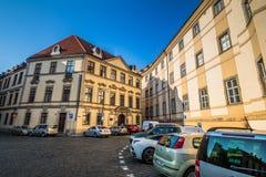 ¡ Marian Squares Marià nské nà ¡ mÄ› stà in der alten Stadt Prags, Tschechische Republik Lizenzfreies Stockbild