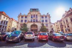 ¡ Marian Squares Marià nské nà ¡ mÄ› stà in der alten Stadt Prags, Tschechische Republik Lizenzfreie Stockfotografie