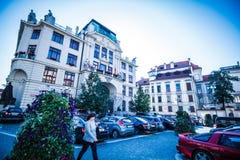 ¡ Marian Squares Marià nské nà ¡ mÄ› stà in der alten Stadt Prags, Tschechische Republik Lizenzfreie Stockfotos