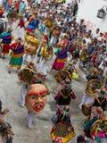 ¡ N de PopayÃ, Colômbia - 5 de janeiro de 2014: Carnaval preto e branco p Fotografia de Stock