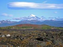¡ N LanÃn de Volcà e nuvens loucas Foto de Stock