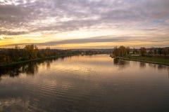 ¡ Prags HoleÅ ovice Fotos von der Brücke lizenzfreie stockbilder