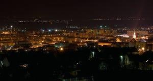 ¡ Rd de Szekszà la nuit images stock