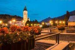 ¡ Terchovà деревни в ноче стоковое изображение rf
