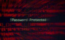 ¡Alarma cibernética del sistema de datos de la verificación de la protección del ladrón de la seguridad de la contraseña! c fotos de archivo libres de regalías