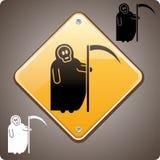 ¡Alerta! Muerte a continuación stock de ilustración