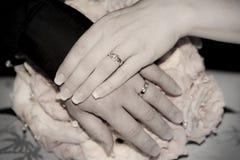 ¡Apenas casado! Imagen de archivo libre de regalías