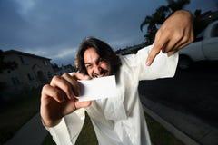 ¡Aquí está mi tarjeta de visita! imagen de archivo