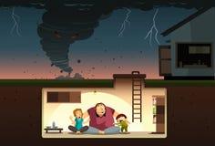 ¡Ataque del tornado! Imagenes de archivo