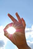 ¡AUTORIZACIÓN de la sol! Fotografía de archivo libre de regalías