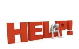 ¡Ayuda! Foto de archivo