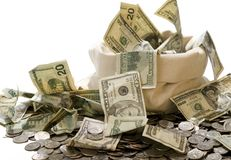 ¡Bolso del dinero! Fotografía de archivo