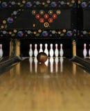 ¡Carriles del bowling - casi allí! Imagen de archivo libre de regalías