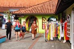 ¡Castries St Lucia - compras portuarias de la travesía! Fotos de archivo libres de regalías