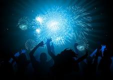 ¡Celebraciones del partido! Imagen de archivo libre de regalías