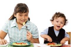 ¡Cena! Foto de archivo libre de regalías