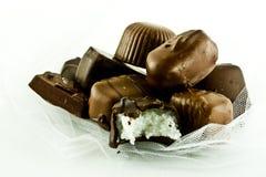 ¡Chocolates con una mordedura! Foto de archivo libre de regalías