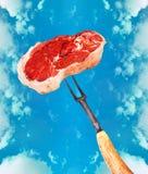 ¡Coma la carne! Imágenes de archivo libres de regalías