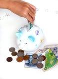 ¡Comience a salvar! /Invierta en moneda extranjera Fotos de archivo libres de regalías