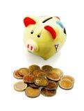 ¡Concepto del éxito financiero - dinero en el trabajo! Foto de archivo