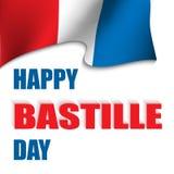 ¡Día de Bastille feliz! stock de ilustración