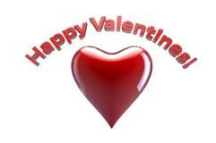 ¡Día de tarjeta del día de San Valentín feliz! Imágenes de archivo libres de regalías