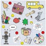 ¡De nuevo a escuela! Stock de ilustración