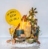 ¡Decoración del ` s del Año Nuevo - Feliz Año Nuevo! Imagenes de archivo