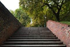 ¡Demasiados pasos en este parque! Imagen de archivo