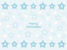 ¡Deseándole una Feliz Navidad! Fondo de la estrella stock de ilustración
