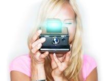 ¡Diga el queso! cámara de la foto de la vendimia Fotos de archivo libres de regalías