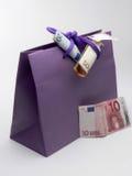 ¡Dinero y compras!! Foto de archivo libre de regalías